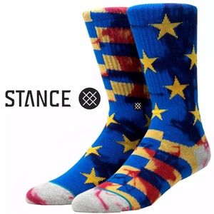 Stance Blue Collection Stripes & Stars Crew Socks